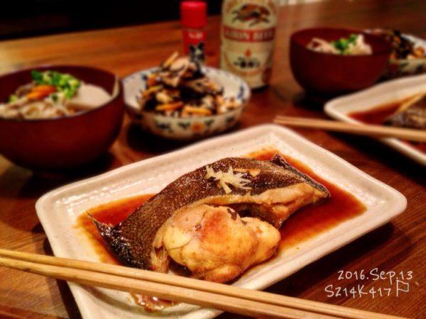 春の大人気白身魚カレイの煮付け