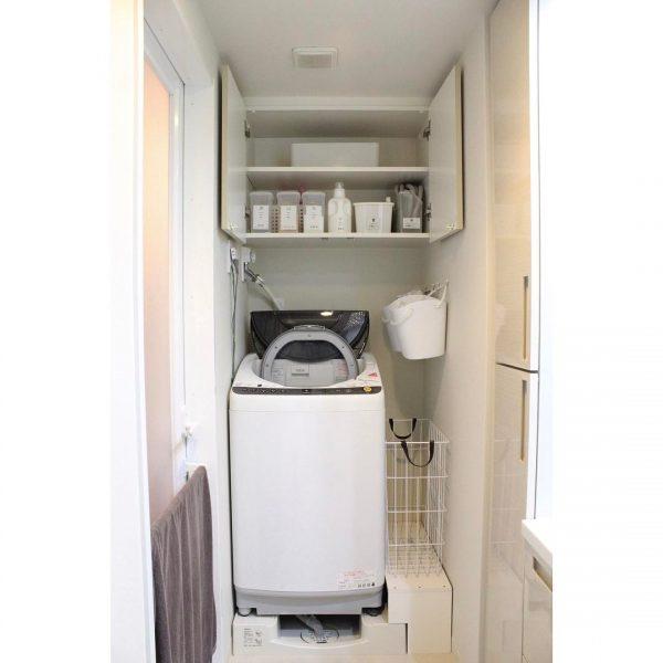 洗濯機横のスペースを有効活用