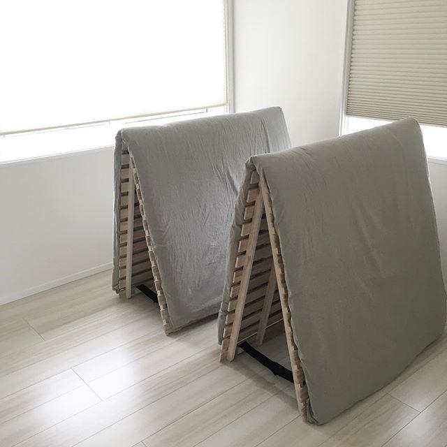 すのこベッドを布団収納にするアイデア