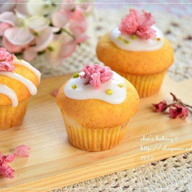 春におすすめ!桜アレンジカップケーキ