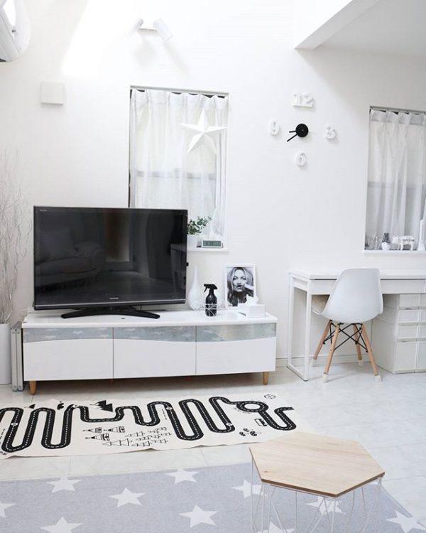 机×テレビボードのおしゃれコーディネート