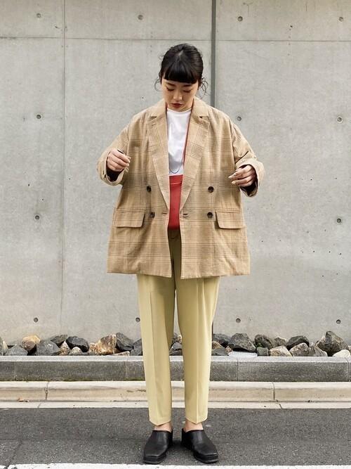 [STUDIOUS WOMENS] 【CLANE(クラネ)】サイドスリットオーバーテーラードジャケット