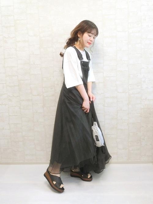 [Auntie Rosa] 【LA BELLE ETUDE】【Belle vintage】ボリュームチュール×オーガンジーデニムサロペット