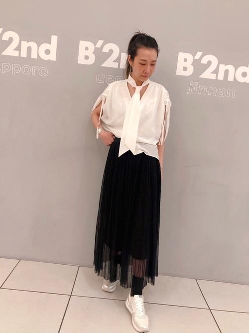 [B'2nd Womens] RITO(リト)タイ付きシャツ