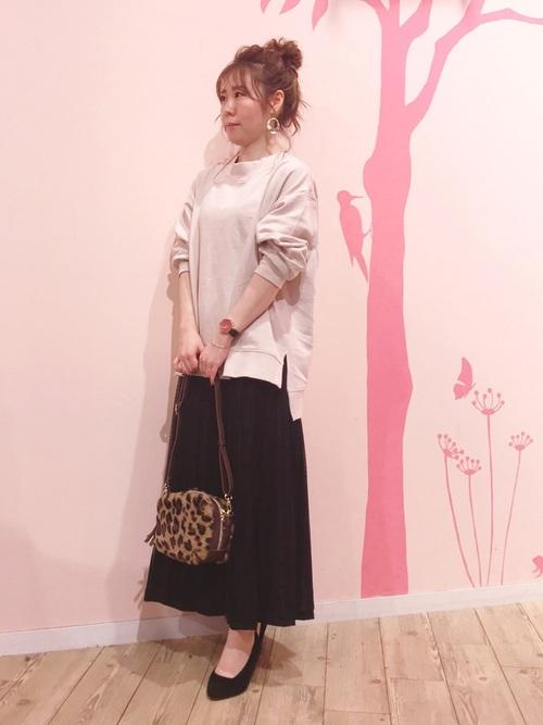 [SHOO・LA・RUE] 【M-L】リバーチュール×プリーツ2WAYスカート