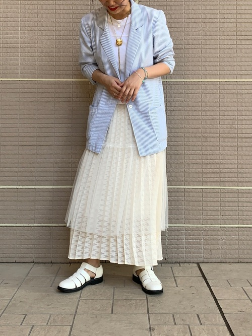 [BEAMS WOMEN] Ray BEAMS / オパール チドリ プリーツ スカート