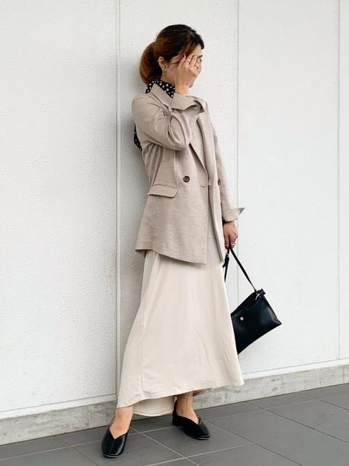 【essential wear】【吸水速乾・抗菌加工】Aラインノースリーブワンピース