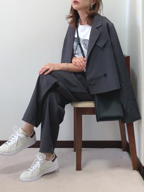 [CROSSPLUS ONLINE] ショートジャケットセットアップ