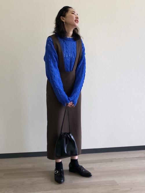 [JOURNAL STANDARD] ストレッチロングジャンパースカート◆