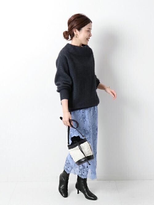 [Spick & Span] ラッセルレーススカート◆