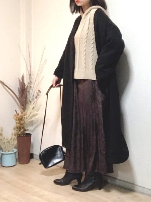 [Bonjour Sagan] サテンフレアロングスカート【ZOZO限定アイテム】