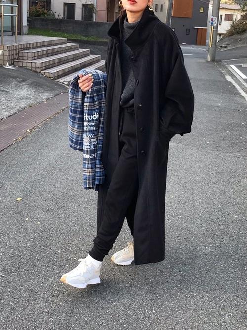 ユニクロのスウェット黒パンツ