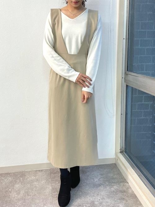 [HER CLOSET] 【HERCLOSET】ロングジャンパースカート/ジャンスカ