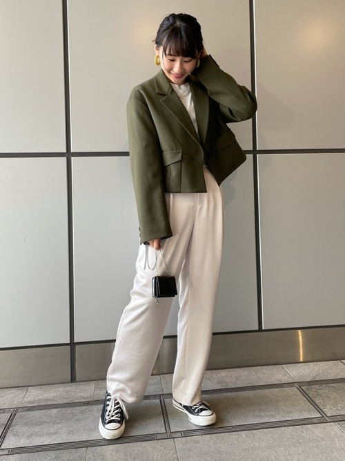 [CONVERSE TOKYO] ショートテーラードジャケット