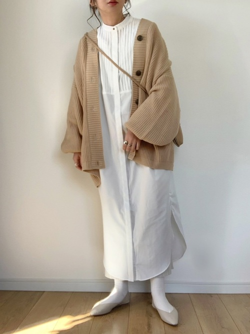 [YARD PLUS/AUNT MARIE'S] 【2021ss / new arrival】ショルダータックピンタックシャツワンピース / Aunt Marie's