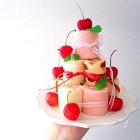 見栄えの良いロールケーキの飾り付けレシピ♪おしゃれにデコレーションしよう。