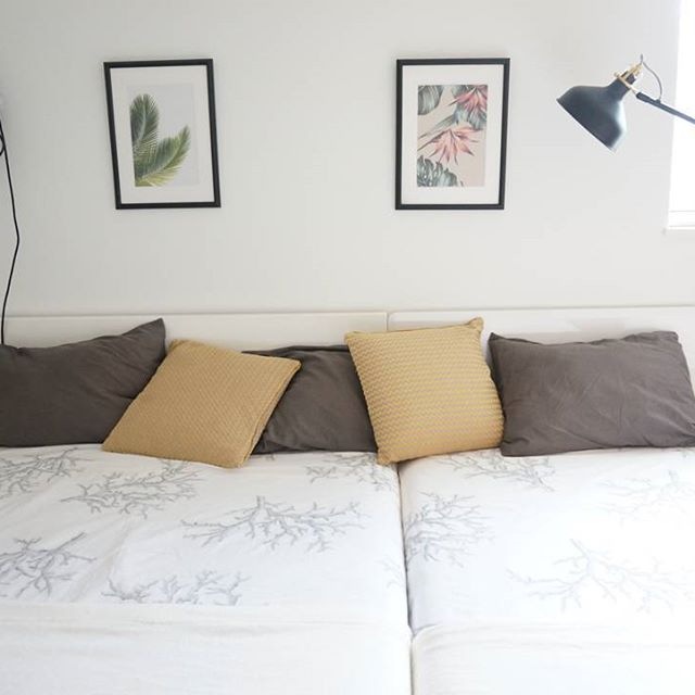 アースカラー インテリア 寝室