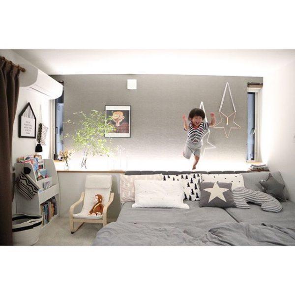 ベッド×壁の可愛いインテリア