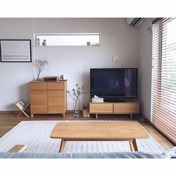リビングの家具を無印良品で統一した実例