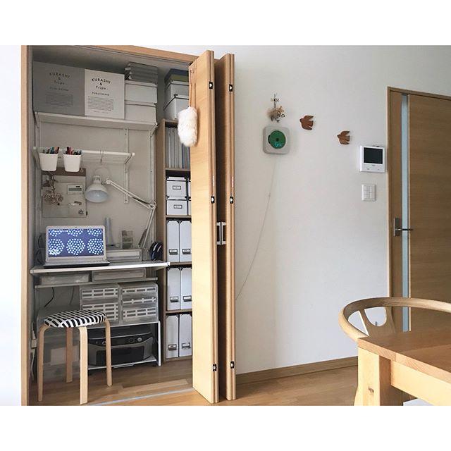 クローゼットをアイデアした3畳の書斎