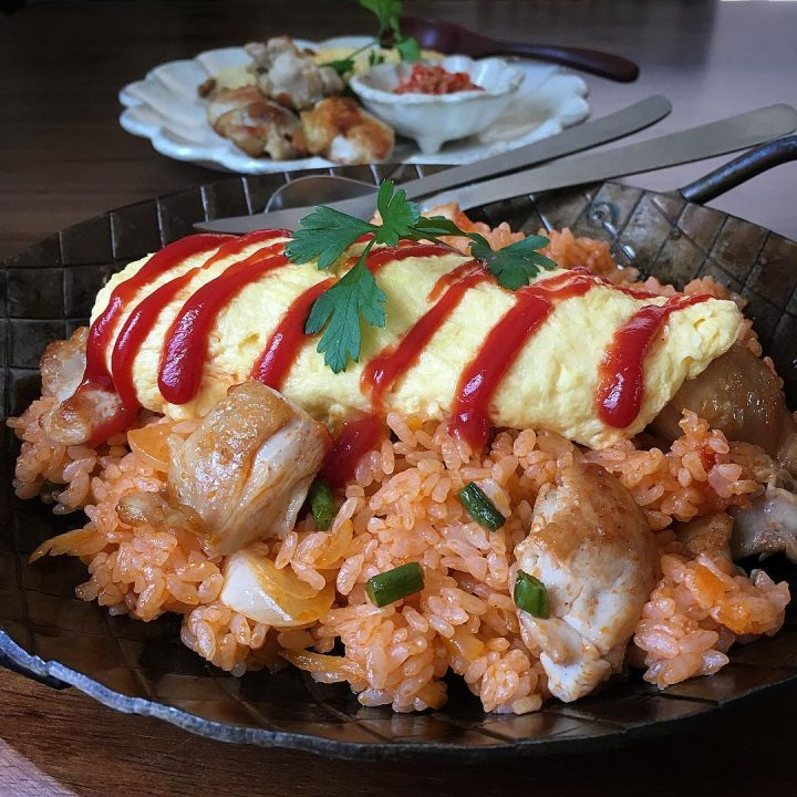 子供に人気の洋風料理☆チキンオムライス