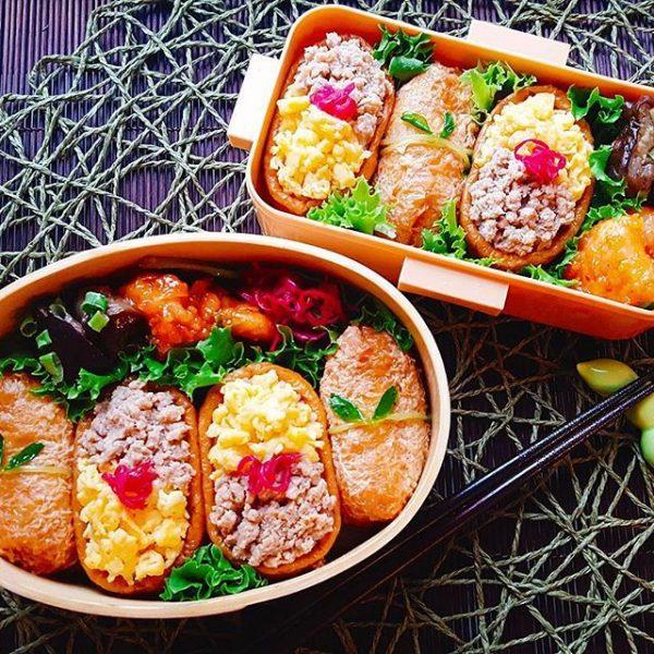 見栄えのする人気レシピ!そぼろいなり寿司