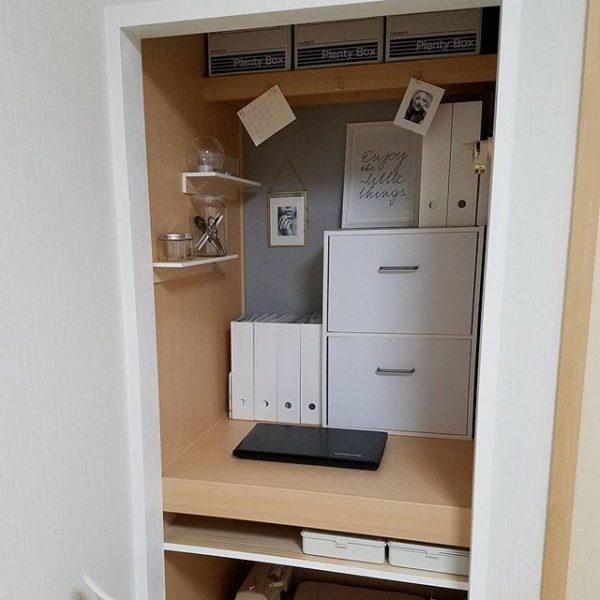 賃貸でもできるシンプルな押入れ部屋