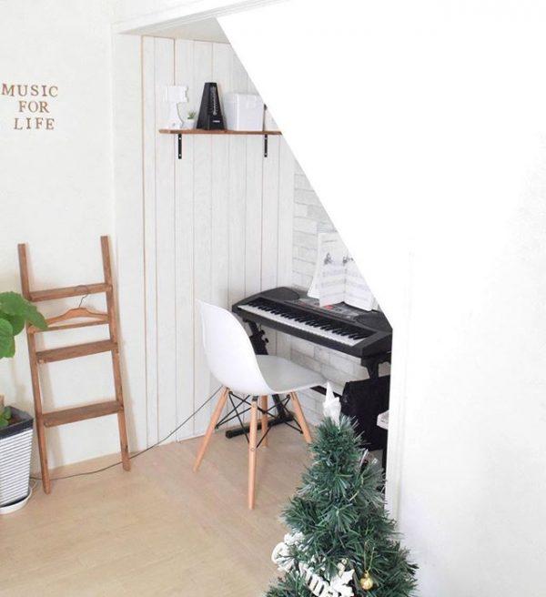 ピアノのスペースにする押入れDIY