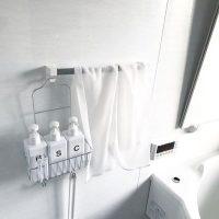 お風呂は吊るす収納が正解!100均や無印の便利アイテム&アイデア実例