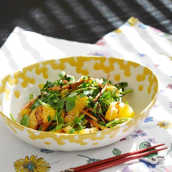 簡単レシピ!クレソンと伊予柑のサラダ