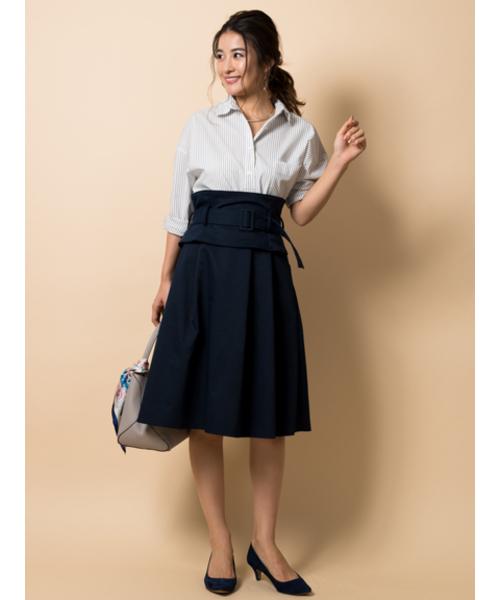 [TONAL] (洗える/シワになりにくい)ビスチェ付フレアスカート