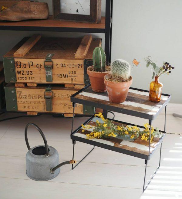 キッチンで使えるすのこテーブル