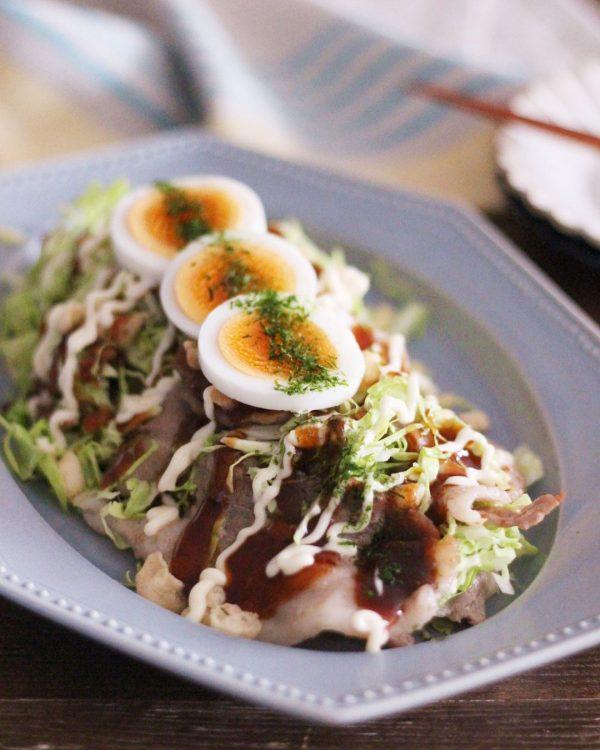 意外なキャベツレシピ☆とん平焼き風サラダ