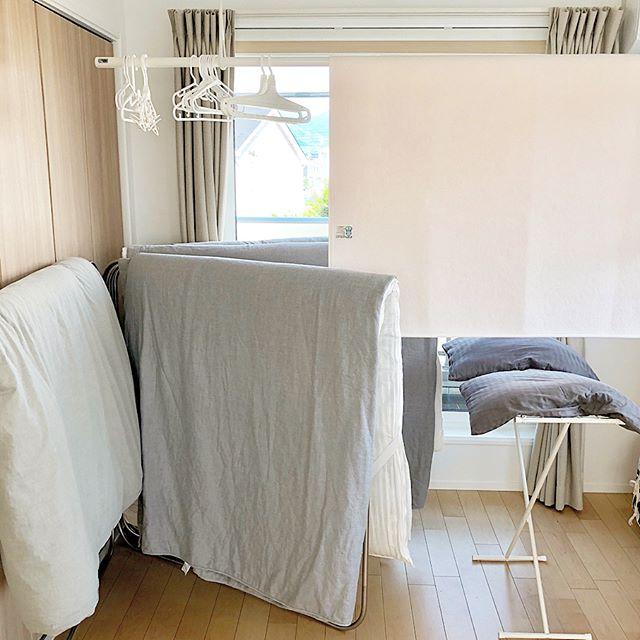 布団収納と布団干場を兼ねるアイデア