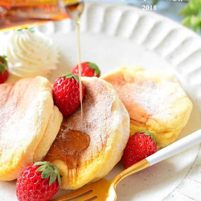 ふわふわで幸せ♪スフレパンケーキ