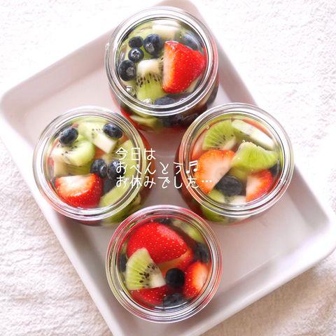 夏に人気の冷たいデザート☆フルーツゼリー