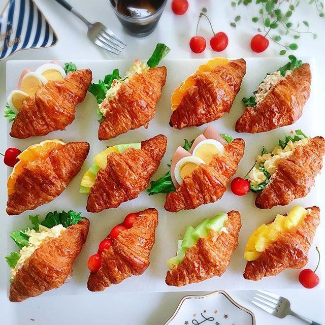 色鮮やか!クロワッサンサンドイッチ