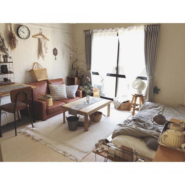 一人暮らしの癒し空間ソファレイアウト