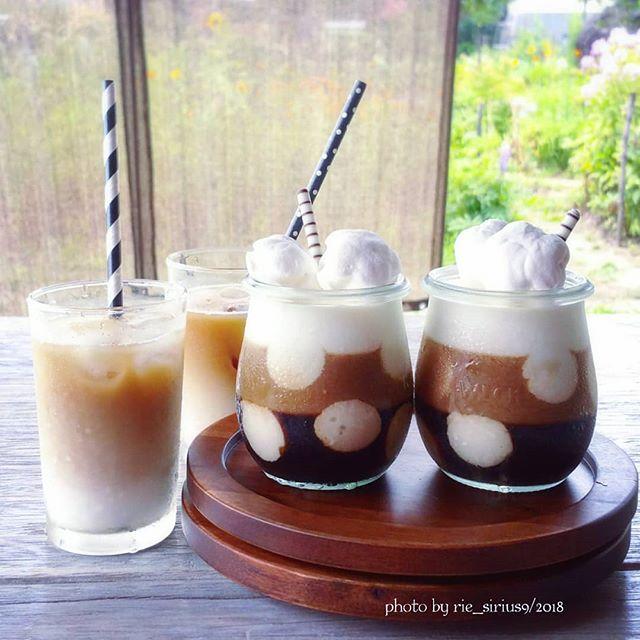 おしゃれレシピ!水玉コーヒーゼリー