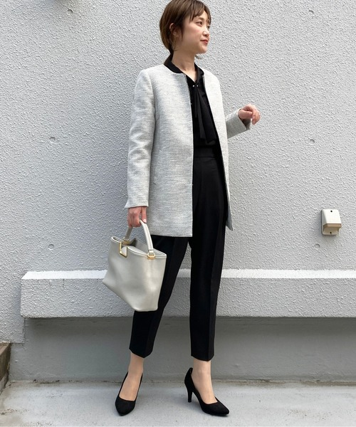 [PICCIN] 【WEB限定】綾織りツイードロングジャケット