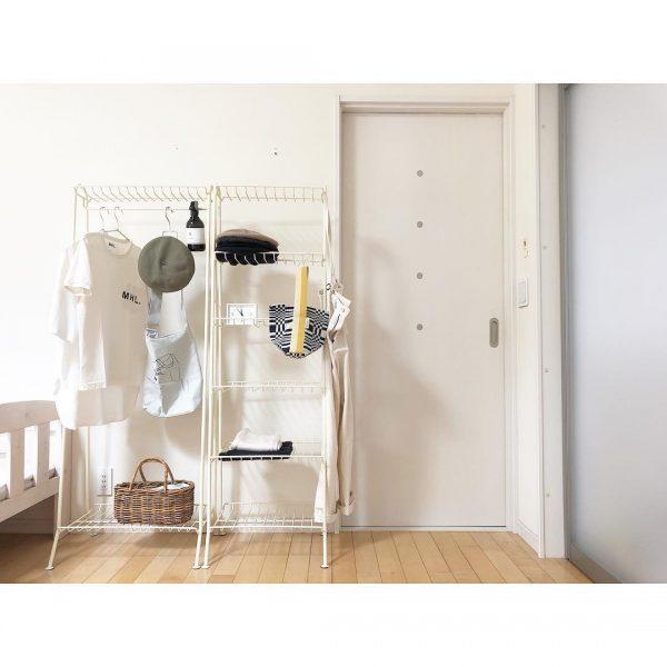 寝室のシンプルで使いやすい収納