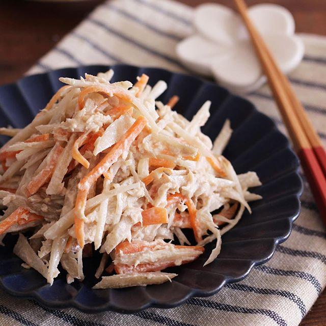 簡単レシピ!ツナとごぼうのデリ風サラダ
