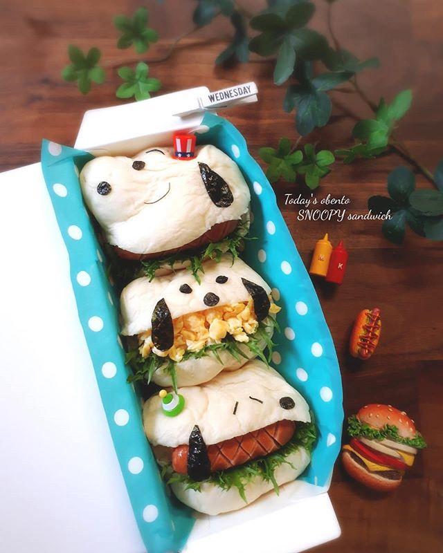 美味しいレシピ!スヌーピーの卵サンドイッチ