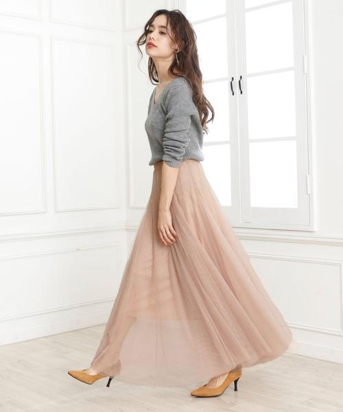 [Doula Doula] チュールロングスカート2