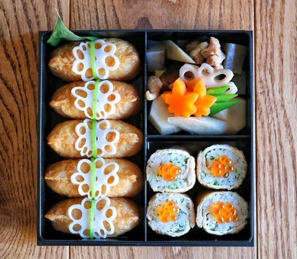 飾り切りれんこんがおしゃれ!簡単人気のいなり寿司
