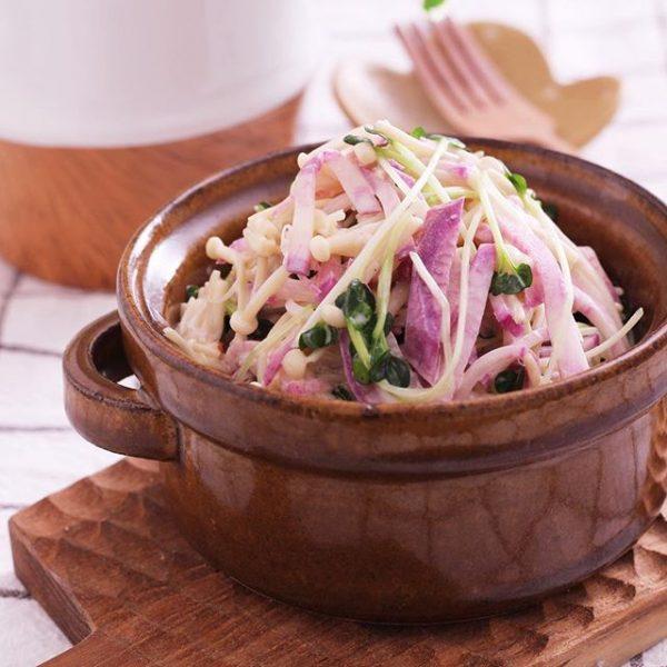 美味しい大根とえのきの簡単サラダ