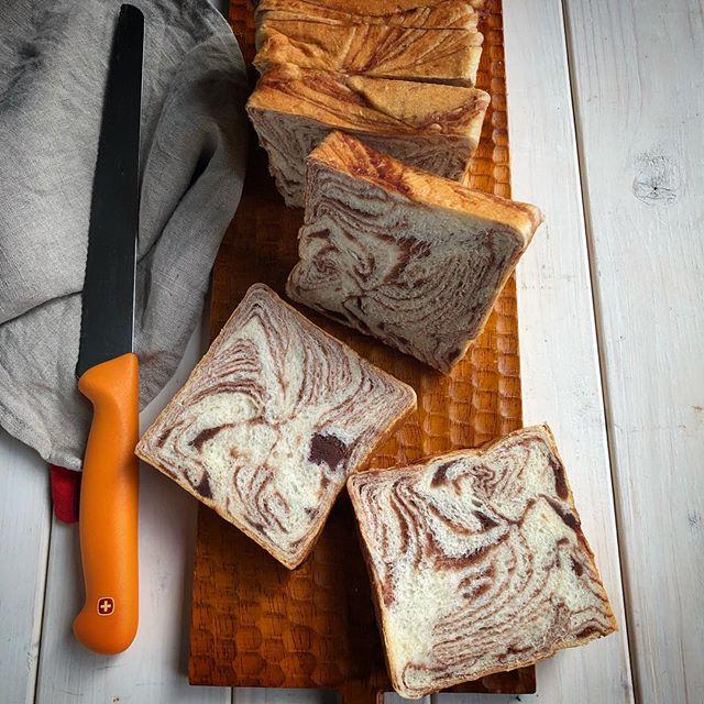 パターンが豊富なもちもちマーブルパン