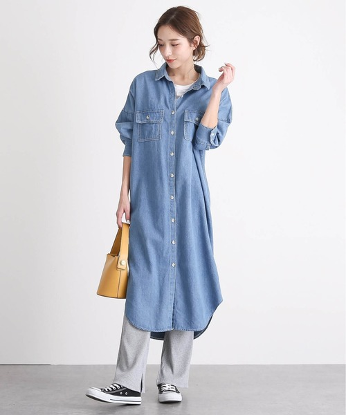 La-gemme ロングデニムシャツ
