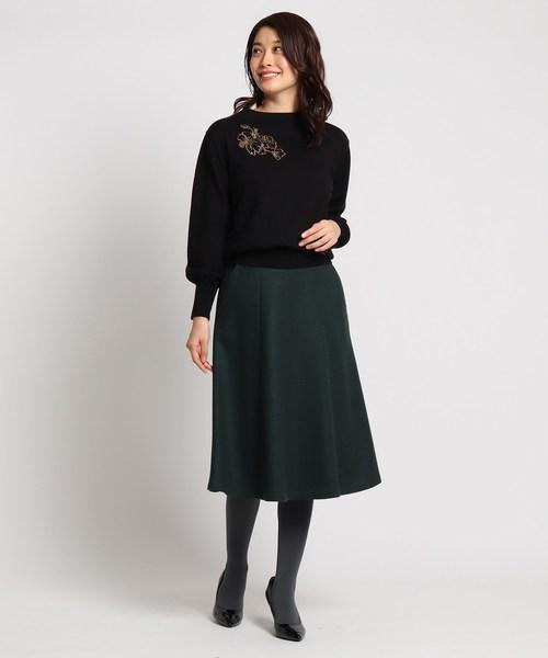 [WORLD ONLINE STORE SELECT] ウール混ミモレフレアスカート