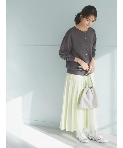 [CRAFT STANDARD BOUTIQUE] 【追加生産】PLEATED LONG SKIRT/プリーツロングフレアスカート*
